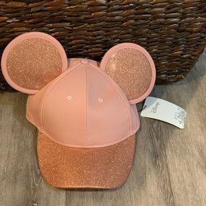 Rose gold Minnie cap